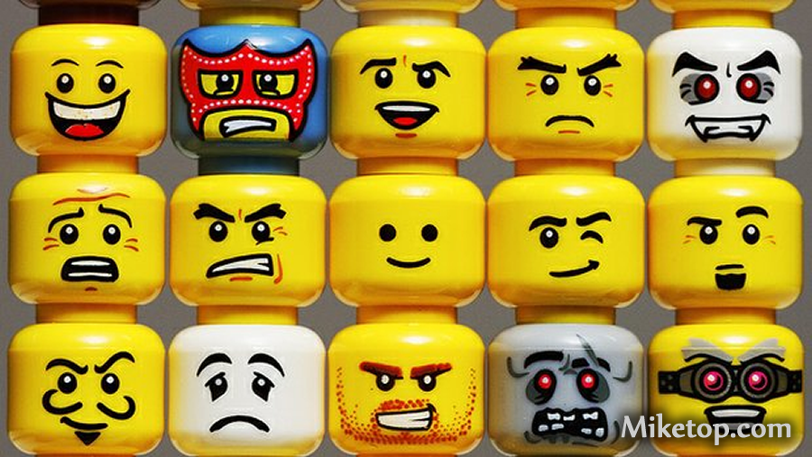 Lego Gesichter Faces Boese Grimmig Angry Miketop
