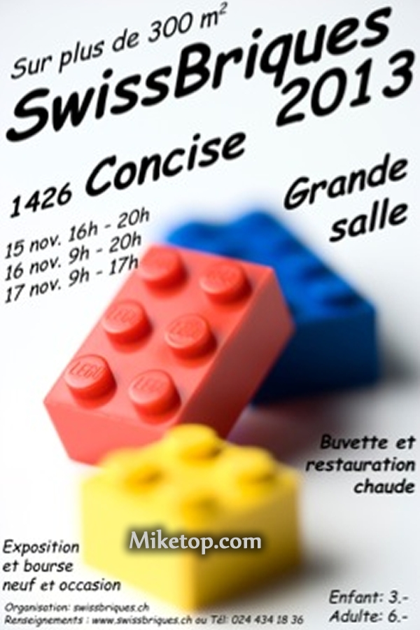 Lego Swiss Briques 2013 SwissBriques Brique SwissBrique Miketop