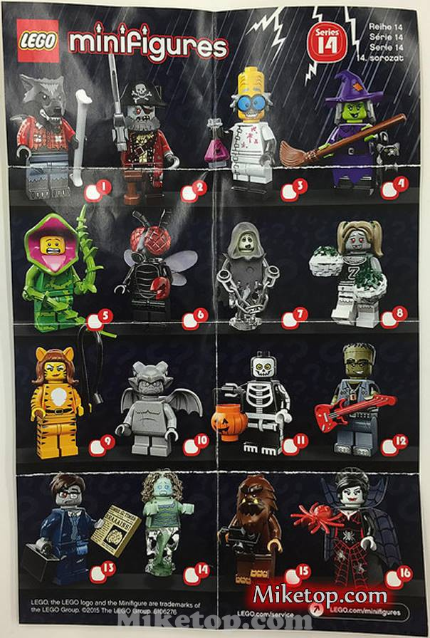 lego minifigures minifiguren series serie 14 halloween 2015 miketop